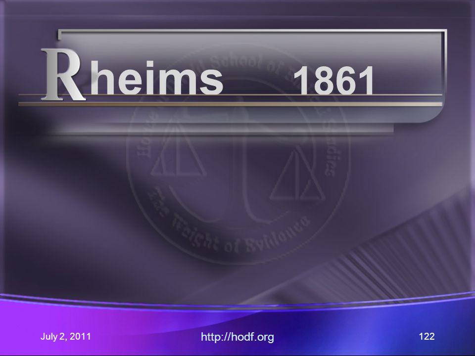July 2, 2011 http://hodf.org 122 heims 1861