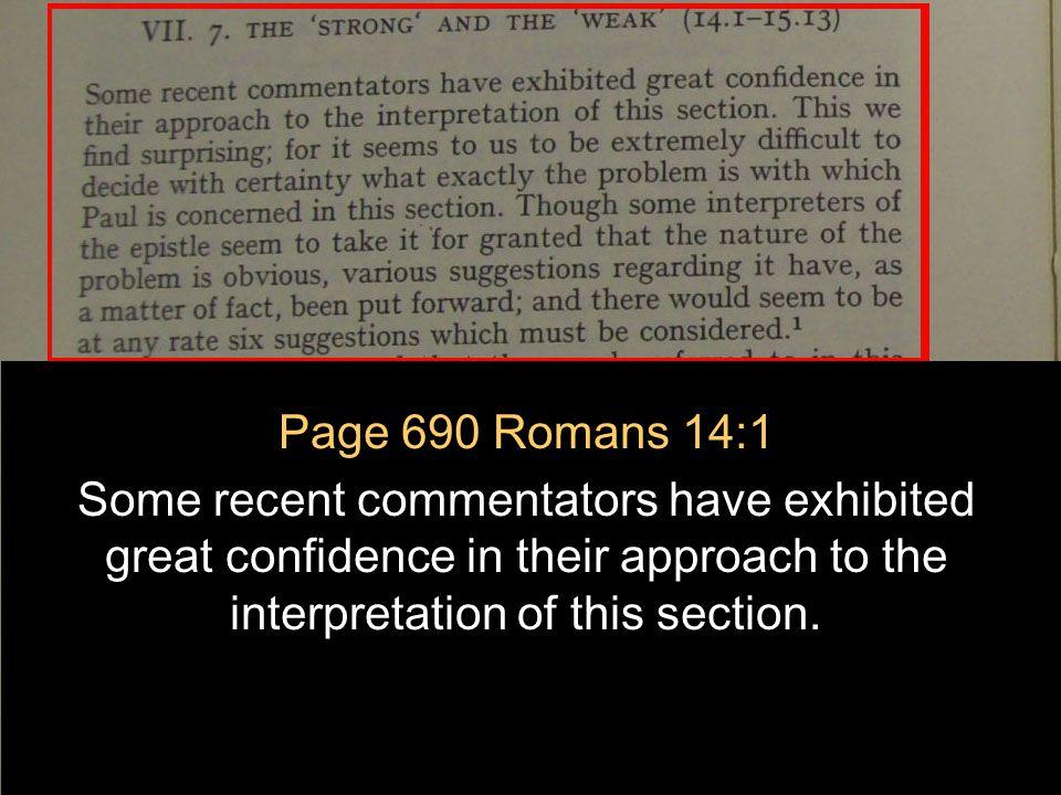 July 2, 2011 http://hodf.org 130 Romans 14: Part II P.C.