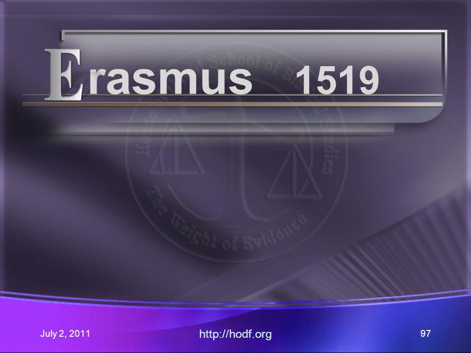 July 2, 2011 http://hodf.org 97 rasmus 1519