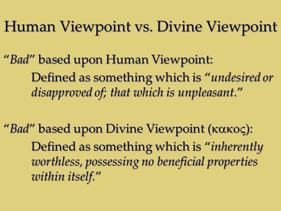 Human Viewpoint vs.