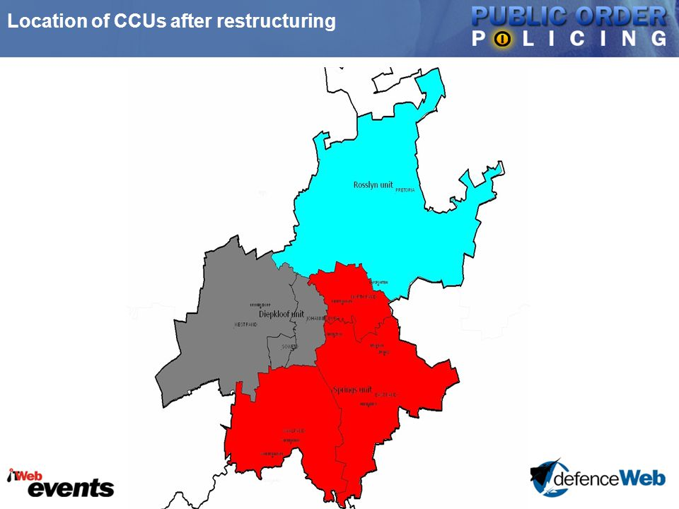 Location of CCUs after restructuring