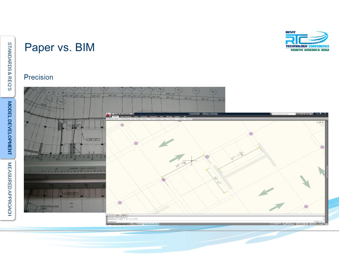 MEASURED APPROACH MODEL DEVELOPMENT STANDARDS & REQ'S Paper vs. BIM Precision