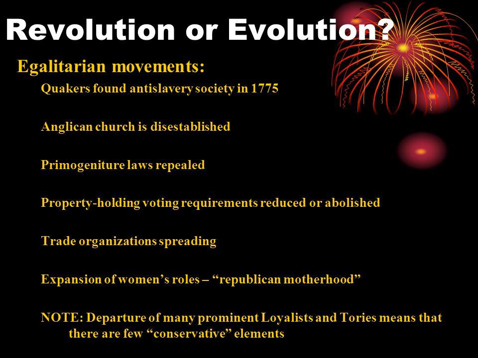 Revolution or Evolution.