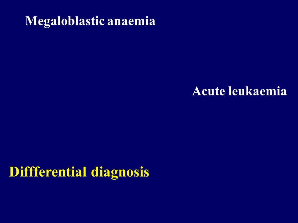 Megaloblastic anaemia Acute leukaemia Diffferential diagnosis