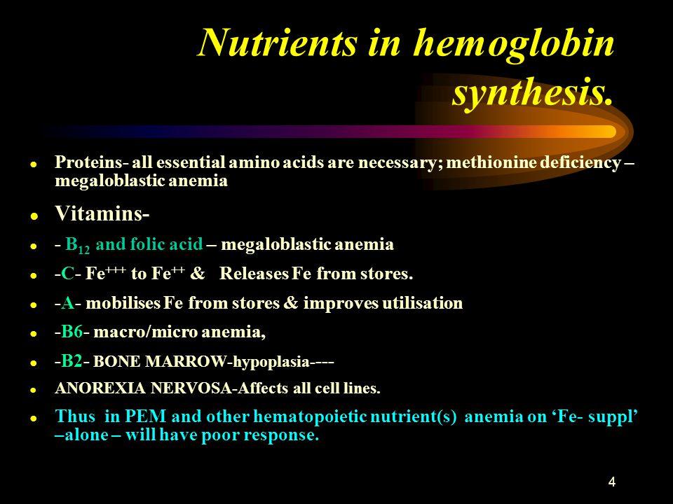15 Diagnosis of Deficiency Anemias