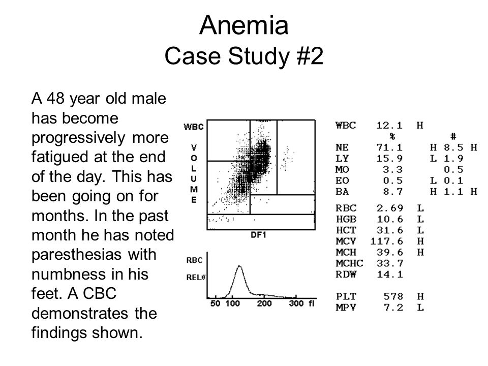 Anemia Case Study #1 Answers –Question 1 Likely Iron Deficiency Anemia –Question 2 Colonoscopy