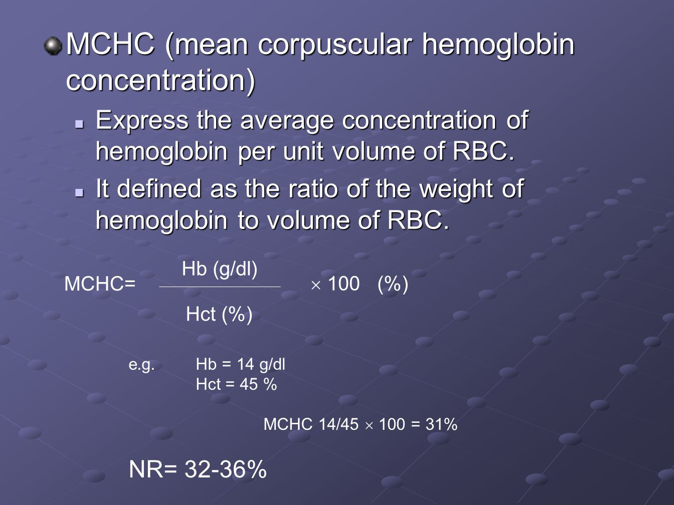 Symptoms of Anemia Hemoglobin/Hematocrit Normal or High Check other Causes of symptoms e.g.