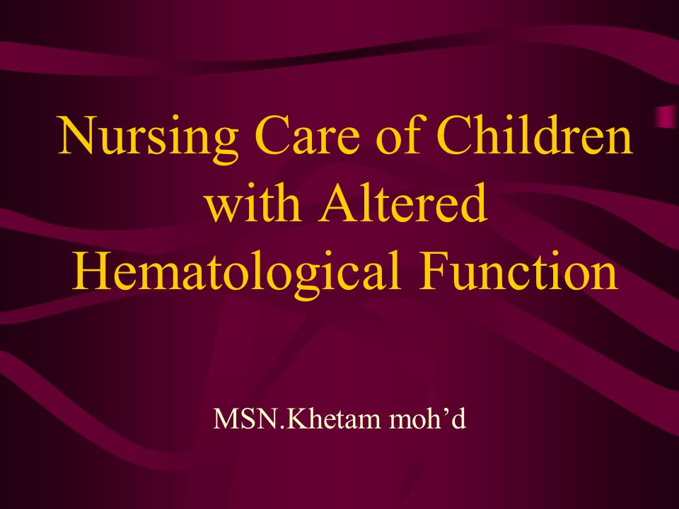IRON DEFICIENCY ANEMIA Etiology: Lack of iron in the diet or the child's inability to use the iron he ingest 1- Low birth weight, Prematurity, twins => decreased storage of iron 2- Continued or excessive milk administration without iron enriched food 3- Blood loss = Occult bleeding may be due to a lesion of the GI tract.