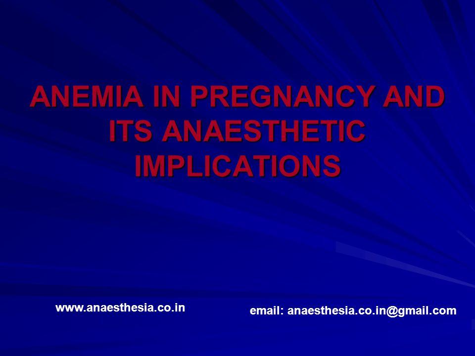 Anemia Definition: Quantitative or qualitative reduction of Hb or circulating RBC's or both.