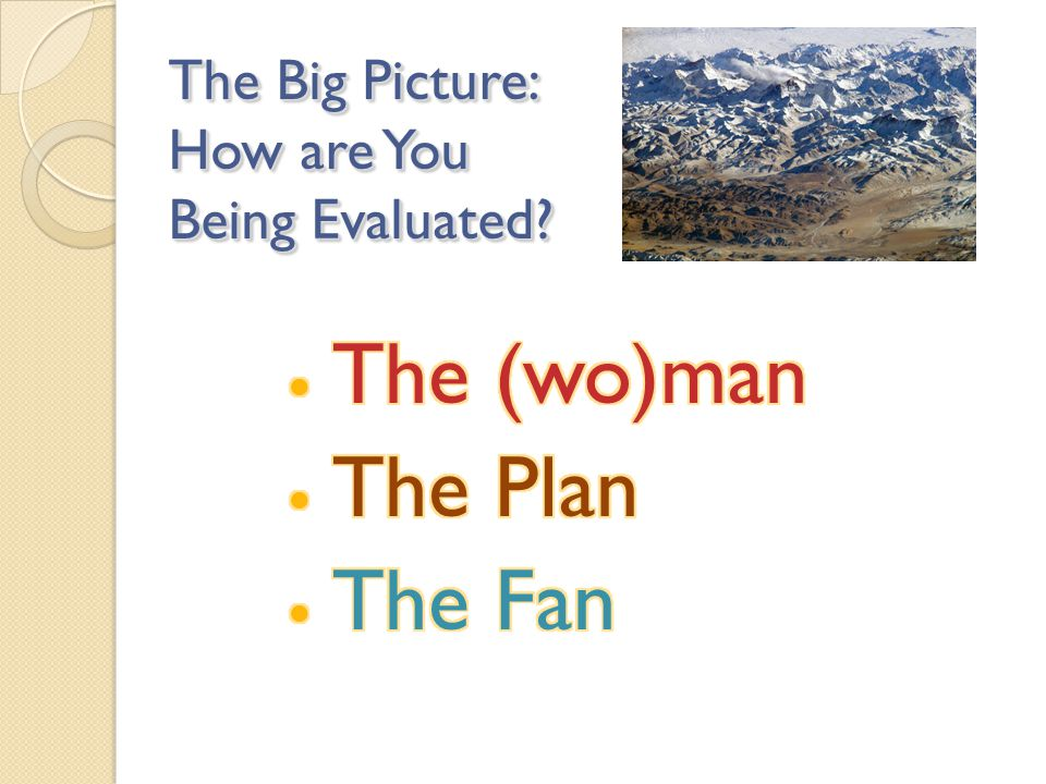The Big Picture: How are You Being Evaluated?