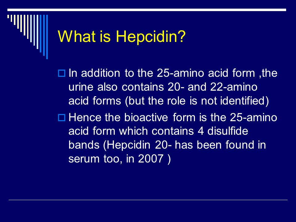 What is Hepcidin.