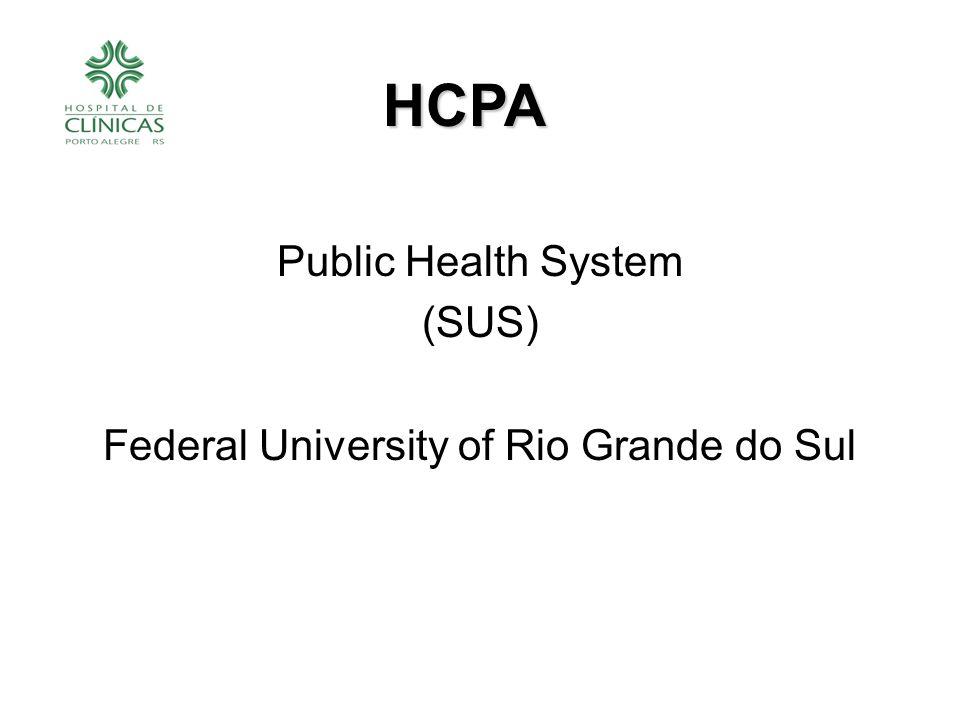 Public Health System (SUS) Federal University of Rio Grande do Sul HCPA