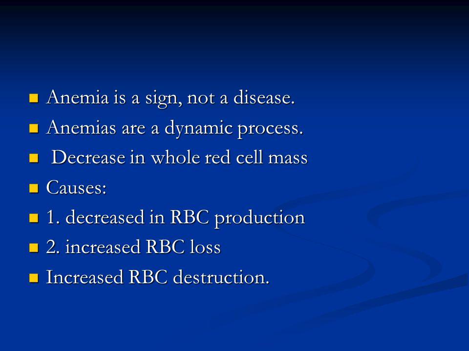 Hemolytic anemias Shortened life span of RBC Shortened life span of RBC Increased destruction Increased destruction Hemoglobinemia, hemoglobinuria Hemoglobinemia, hemoglobinuria Hemosiderosis Hemosiderosis