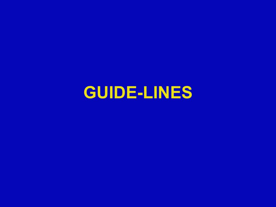 GUIDE-LINES