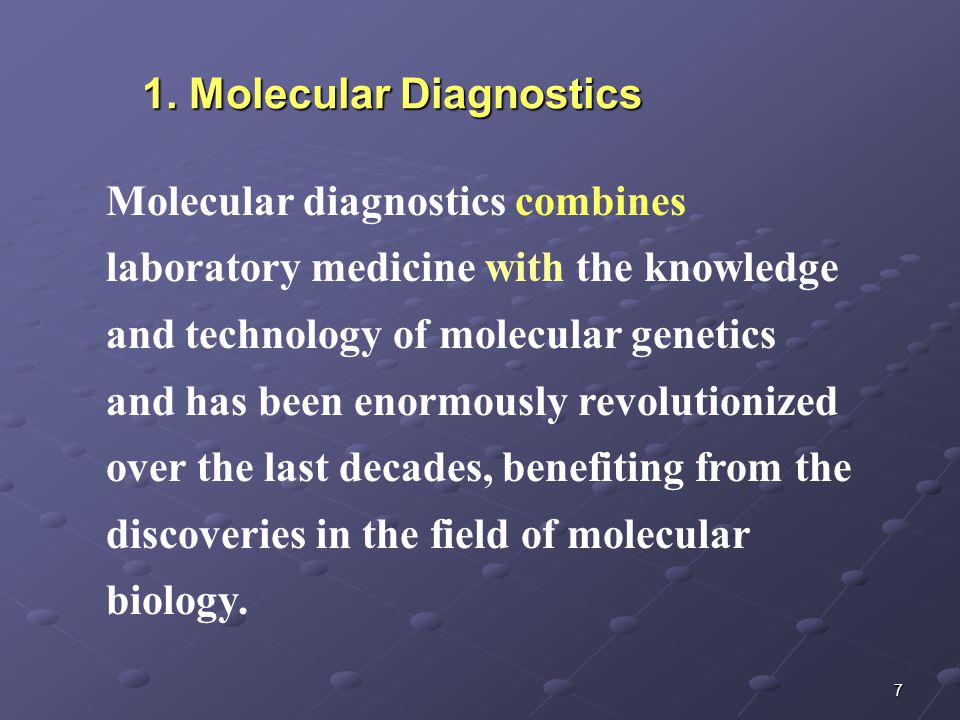 8 The information revolution in molecular biology is permeating every aspect of medical practice The rate of disease gene discovery is increasing exponentially, which facilitates the understanding diseases at molecular level Molecular understanding of disease is translated into diagnostic testing, therapeutics, and eventually preventive therapies 1.