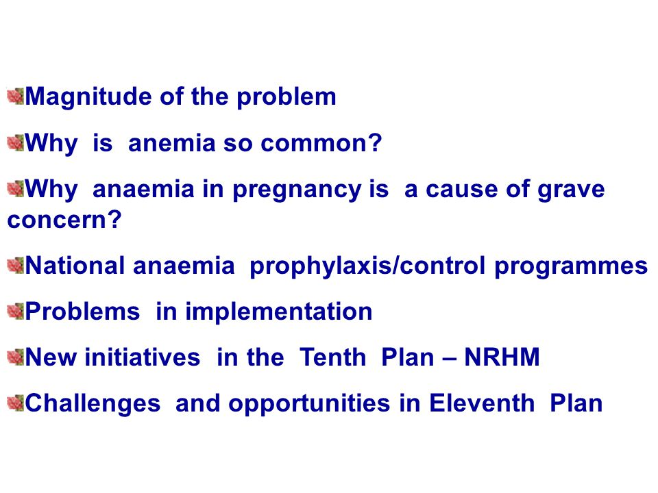 Magnitude of the problem Why is anemia so common.