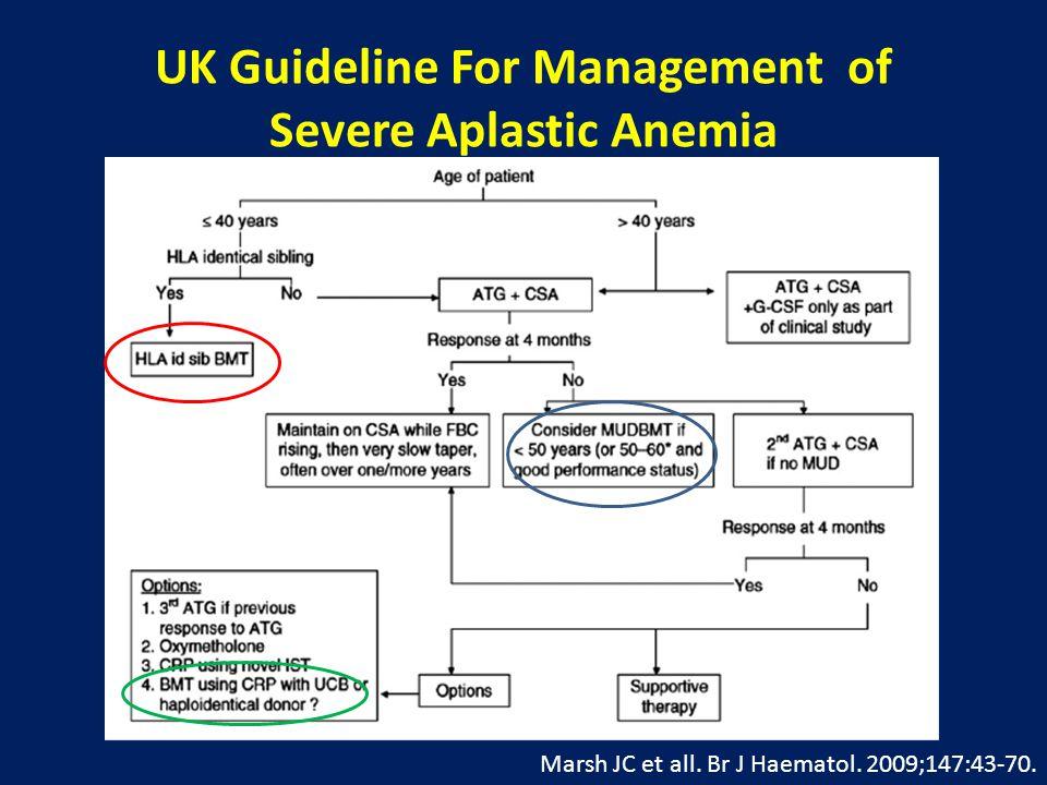 UK Guideline For Management of Severe Aplastic Anemia Marsh JC et all.
