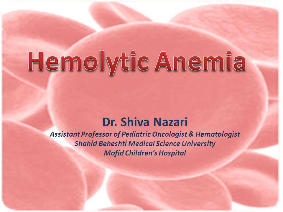 1) Hemoglobine, Hematocrit, RBC count 2) Serum hepatoglubin 3) RBC survival ( Cr 51 ) 4) LDH ( Isoenzymes ) 5) Bilirubin level 6) Hemoglobinuria 7) Reticulocyts 8) Antiglobin test ( Coomb's test ) + -