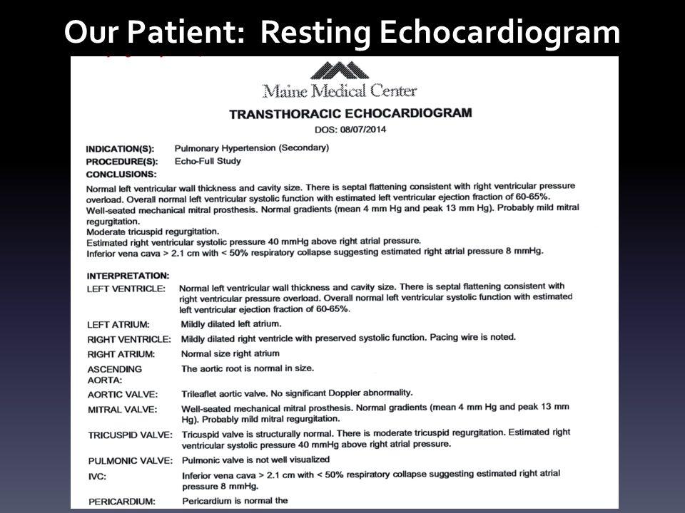 Our Patient: Resting Echocardiogram