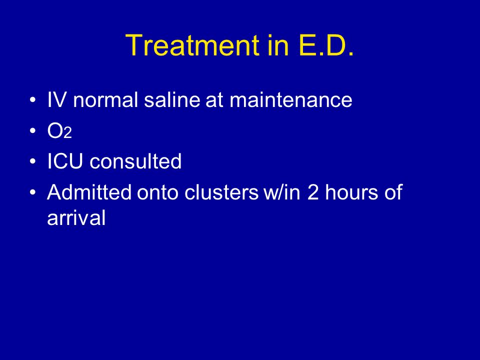 Treatment in E.D.