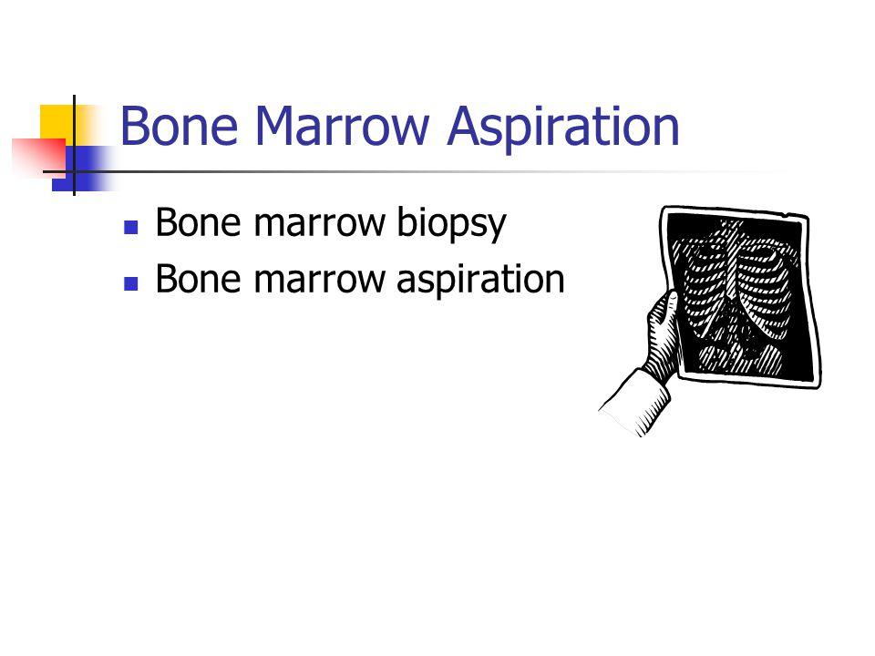 Bone Marrow Aspiration Bone marrow biopsy Bone marrow aspiration