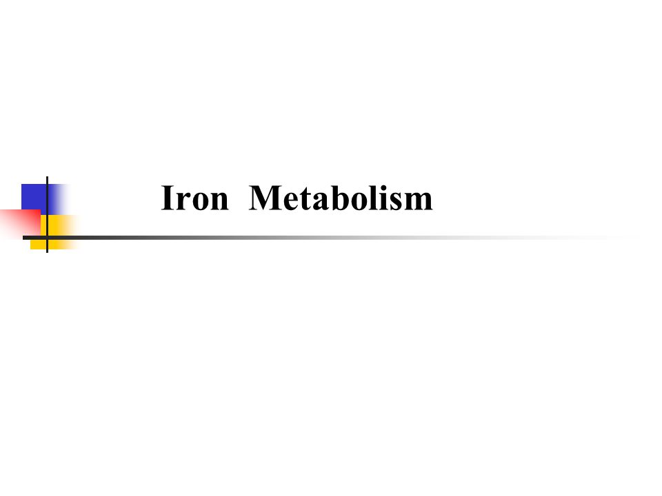 The total body iron varies from 3 to 4 g, depending on the sex and weight of the individual.