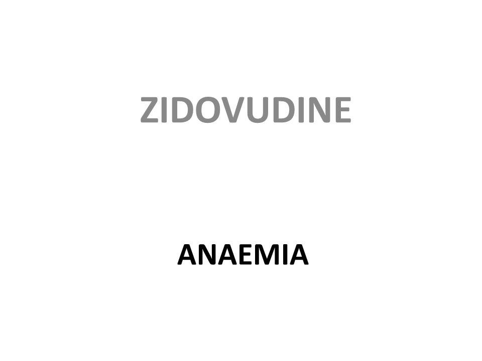 ANAEMIA ZIDOVUDINE