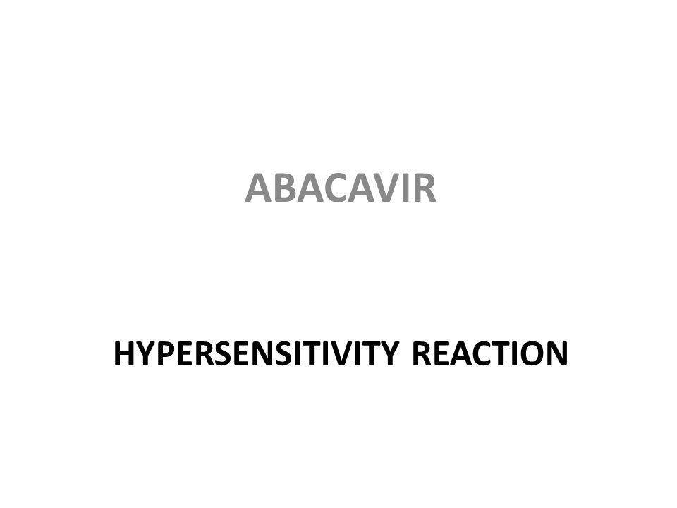 HYPERSENSITIVITY REACTION ABACAVIR