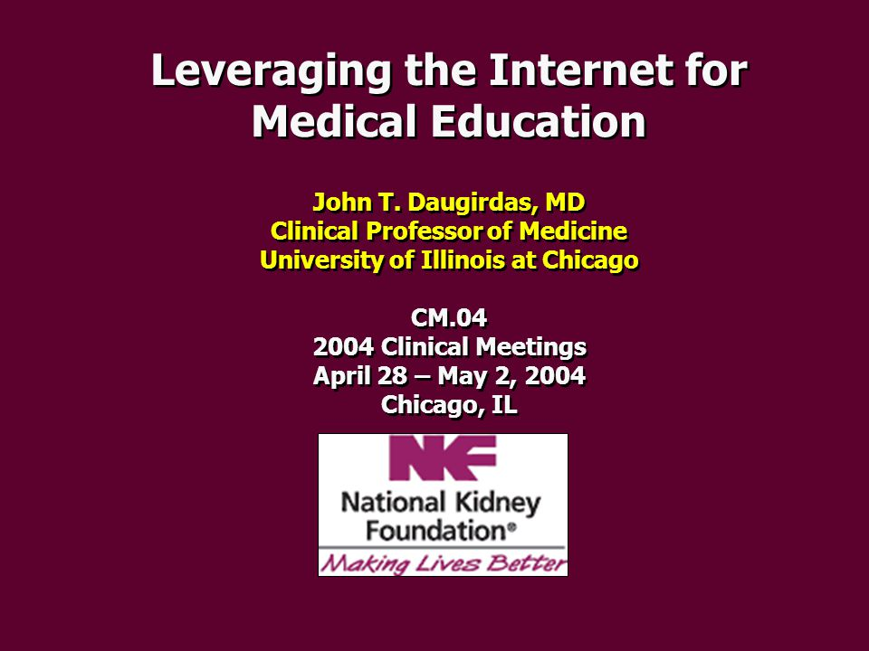 Checking on the latest practice guidelines K / DOQI MDRD GFR calculator Peritoneal Dialysis (ISPD) Hypertension (JNC VII) Dialysis Networks / CMS Quality Sites Diabetes Guideline meta-site