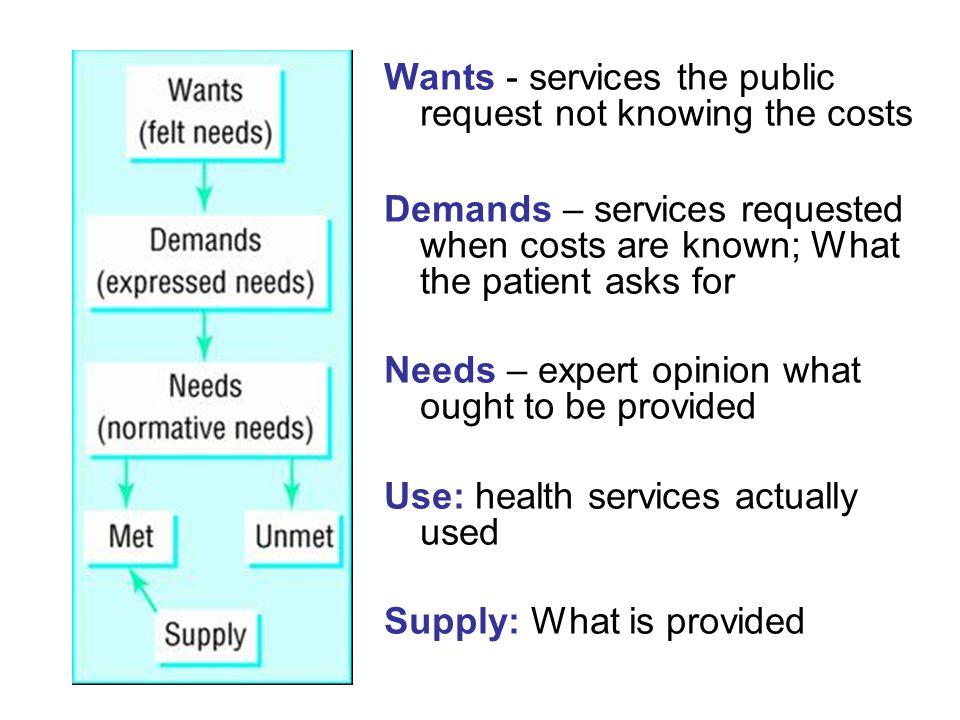 Types needs assessment Subtypes/terminology –Rapid needs assessment –Health needs assessment –Community needs assessment
