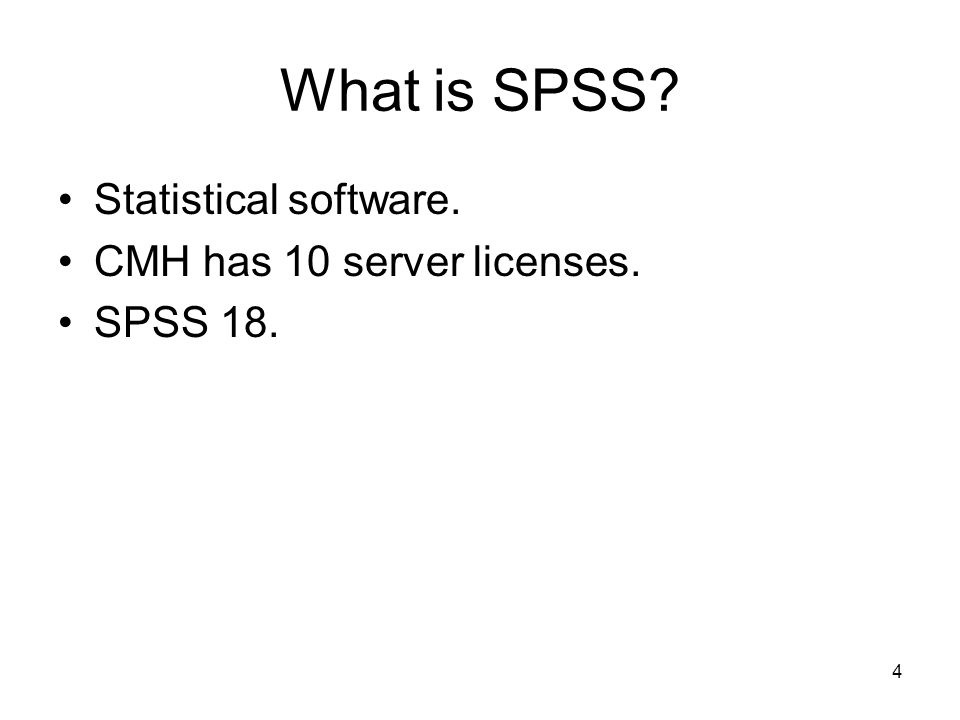 5 SPSS Data Entry SPSS data can be entered manually.