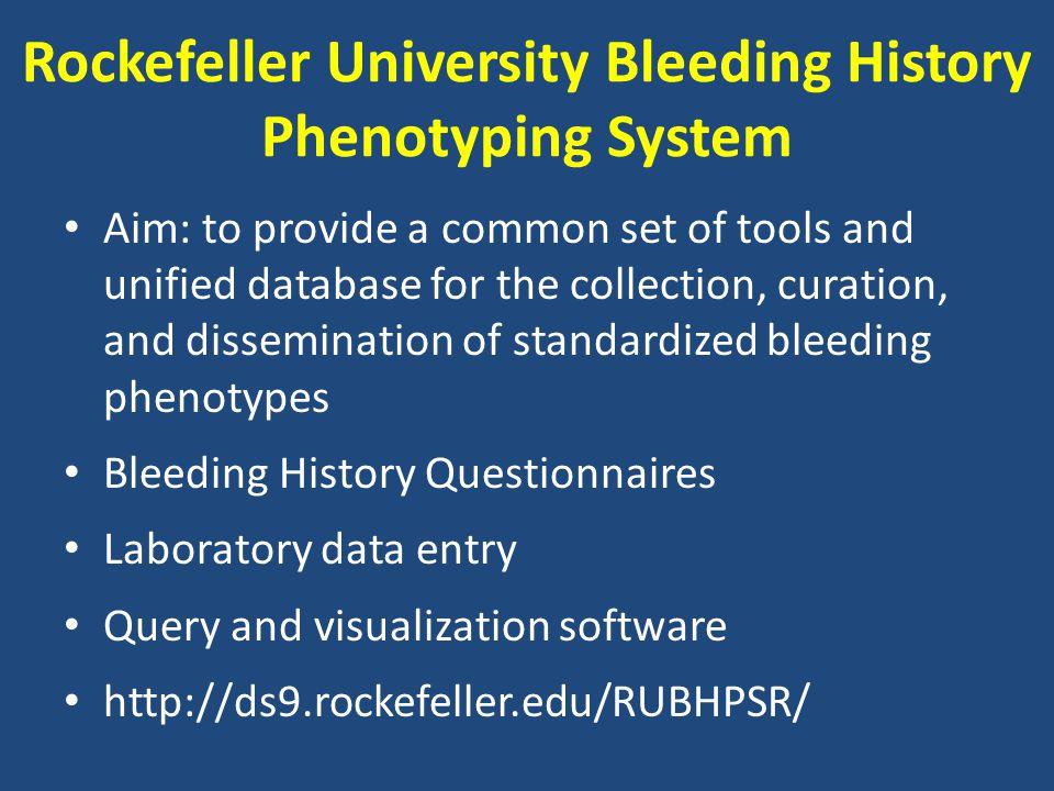 Bleeding History Ontology http://bioportal.bioontology.org/visualize/38563