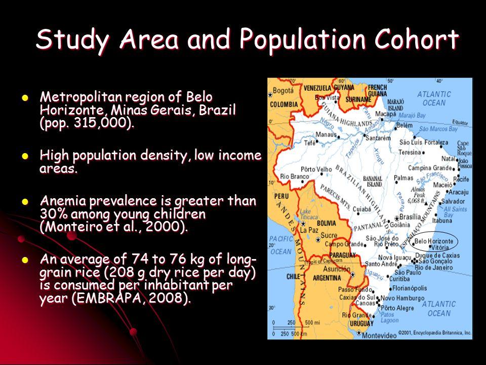 Study Area and Population Cohort Metropolitan region of Belo Horizonte, Minas Gerais, Brazil (pop.