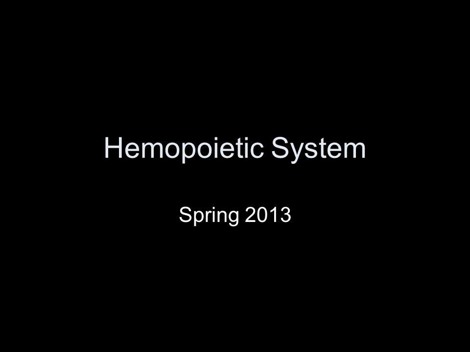 Hemopoietic System Spring 2013