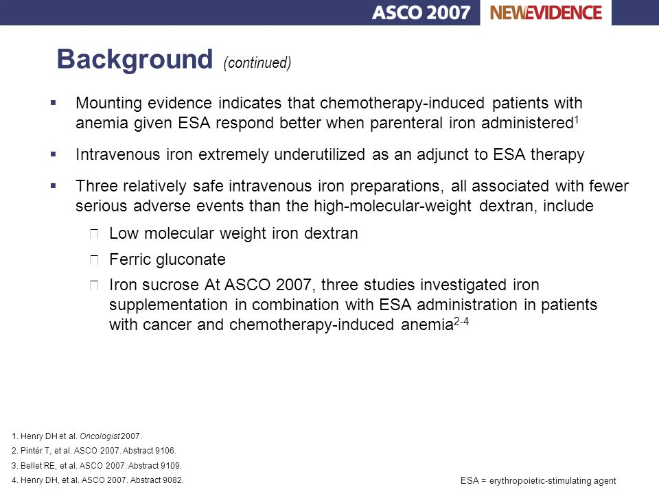 Key findings and conclusions Somer B, et al.ASCO 2007: Abstract 1053.