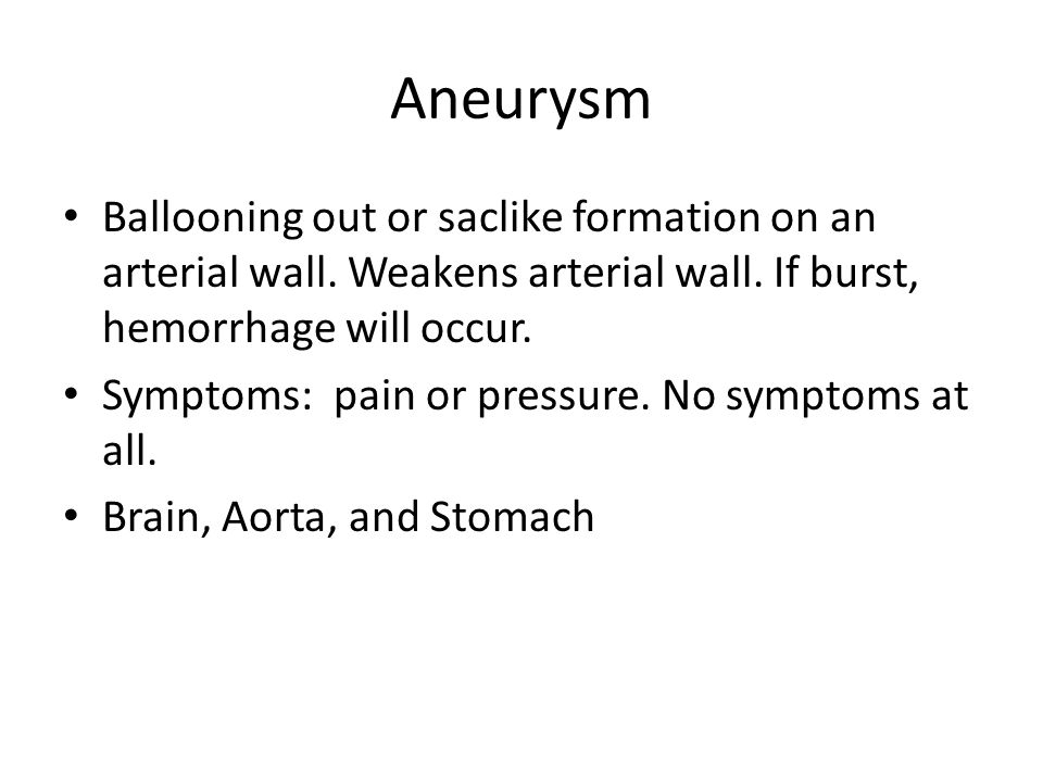 Arteriosclerosis Hardening or thickening of the arterial walls.