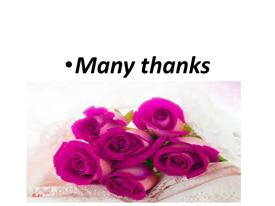 Many thanks
