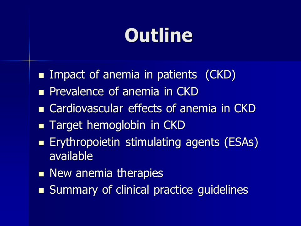 What is anemia.