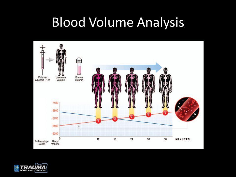 Blood Volume Analysis