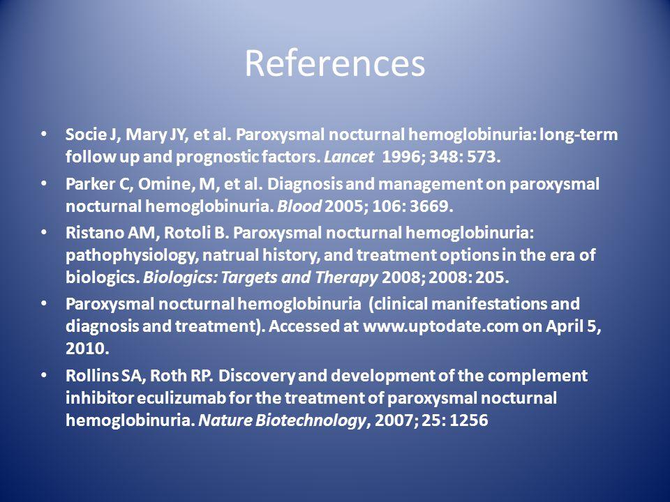 References Socie J, Mary JY, et al.
