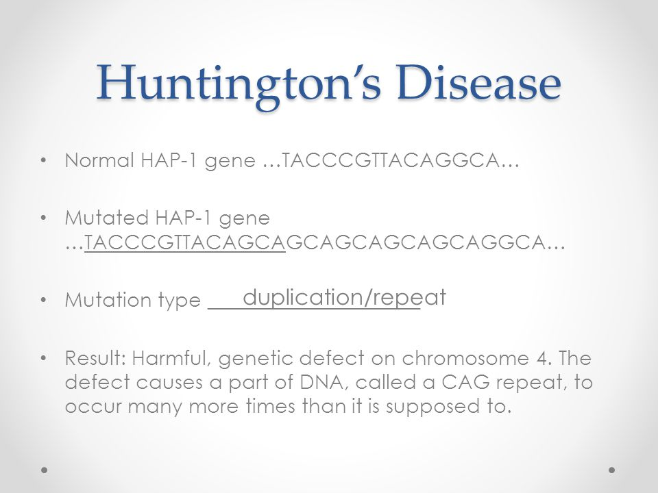 Resistance to HIV Normal CKR-5 gene (susceptible to HIV infection) …CATTTTCCATACAGTCAGTATCAATTCTGGAAGAAT TTCCAGACATTAAAG… Mutated CKR-5 gene (highly resistant to HIV) …CATTTTCCATACATTAAAG… Mutation type _____________________ Result: Beneficial, protects individuals against strains of HIV deletion