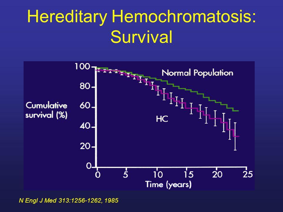 Hereditary Hemochromatosis: Survival with Cirrhosis N Engl J Med 313:1256-1262, 1985
