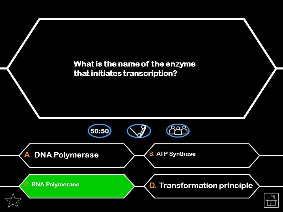 A. ATA-GTC-CTAB. TCA-CUG-GUA C. AUA-GUC-CUAD. ACA-CUC-GUA Which of the following represents the codons that correspond to the segment TATCAGGAT of DNA