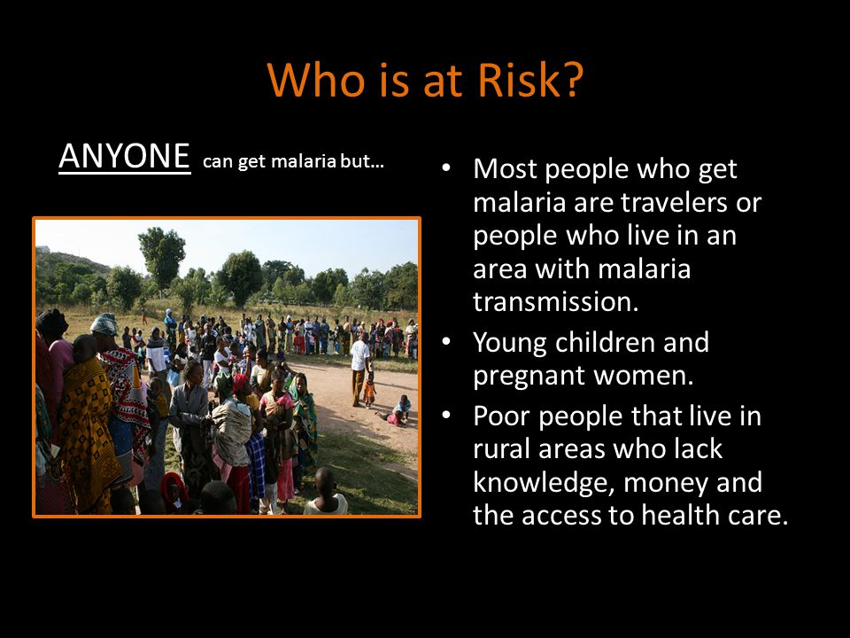 Who is at Risk.