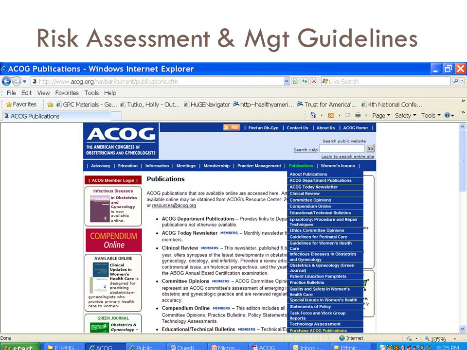 Risk Assessment & Mgt Guidelines