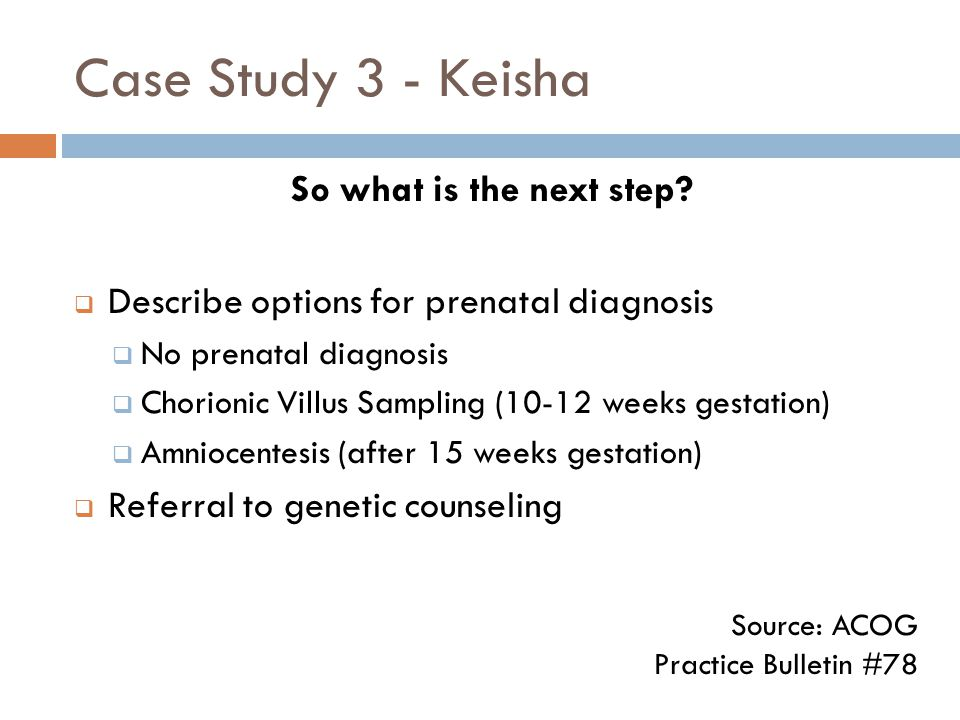 Case Study 3 - Keisha So what is the next step.