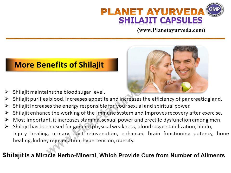  Shilajit maintains the blood sugar level.