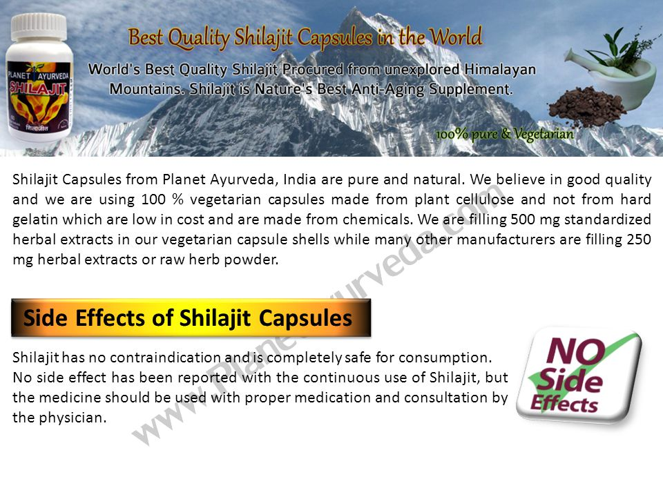 Shilajit has no contraindication and is completely safe for consumption.