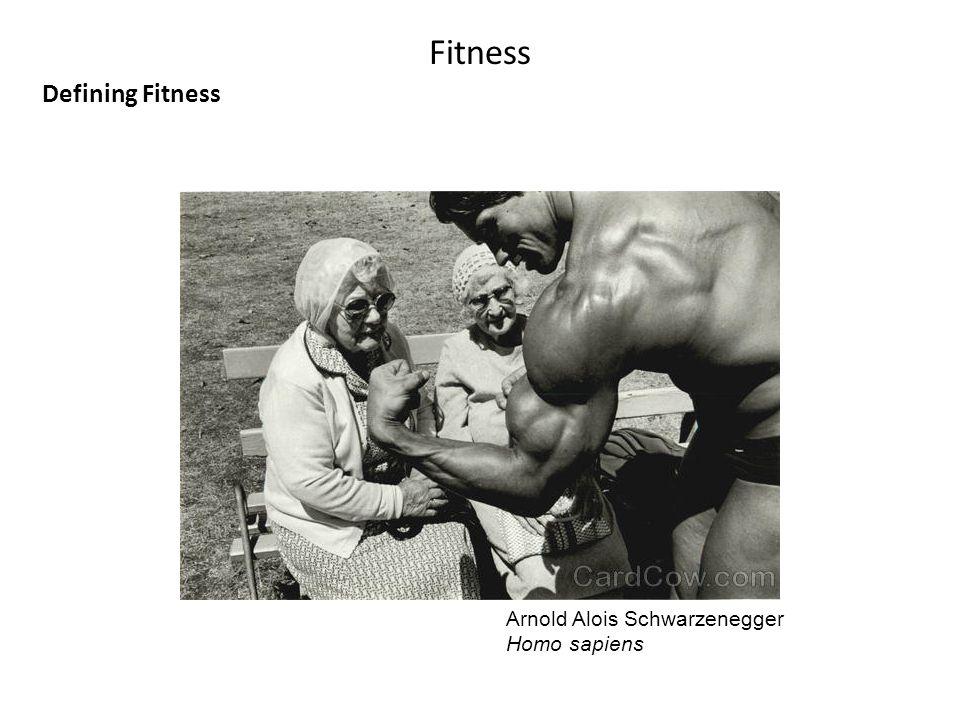 Fitness Defining Fitness Arnold Alois Schwarzenegger Homo sapiens