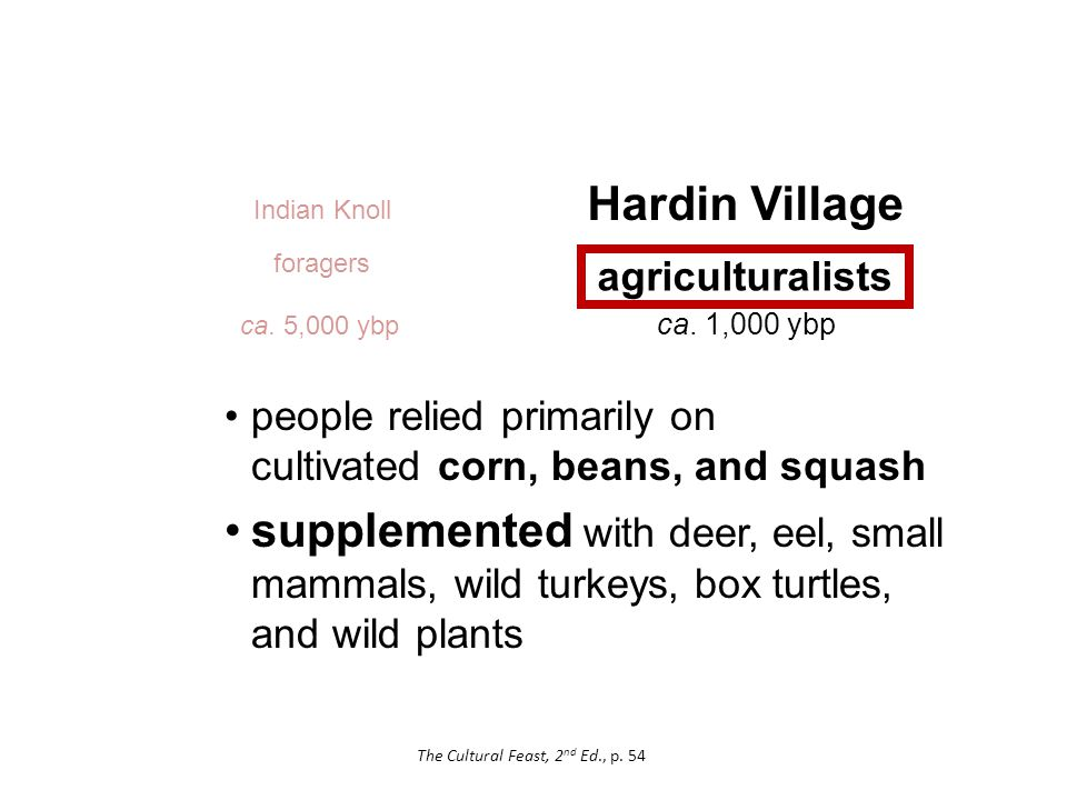Hardin Village agriculturalists Indian Knoll ca. 5,000 ybp ca.